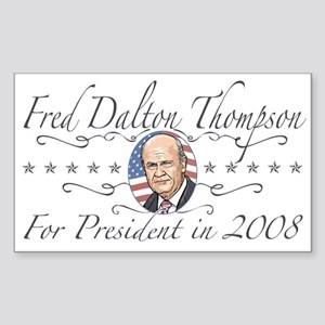 Fred Dalton Thompson Rectangle Sticker